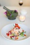 Gamberetto tailandese della calce della noce di cocco di cucina Immagini Stock