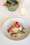 Gamberetto tailandese della calce della noce di cocco di cucina Fotografia Stock