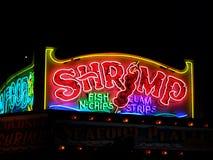 Gambero al neon Fotografie Stock