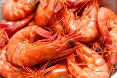 Gambero cucinato Primo piano l'asia Frutti di mare Immagine Stock Libera da Diritti