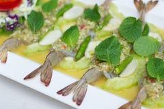 Gambero in salsa di pesci Immagini Stock