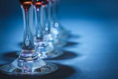 Gambi di vetro di vino Immagini Stock Libere da Diritti