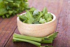 Gambi freschi dei celerys su un fondo bianco Fotografie Stock Libere da Diritti