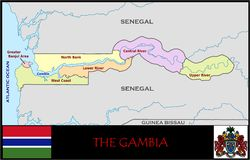 The Gambia Administrative divisions Royalty Free Stock Photography