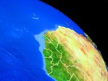 Gambia auf Planet Erde lizenzfreie abbildung