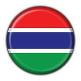 Gambia button flag round shape Royalty Free Stock Photo