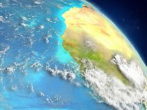 Gambia de la órbita stock de ilustración