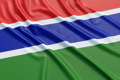 Gambia flag Royalty Free Stock Photography