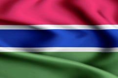 Gambia flaggaillustration stock illustrationer