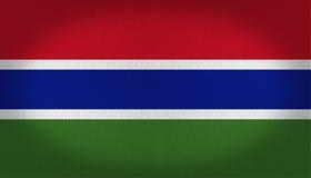 Gambia-Flagge Stockbild