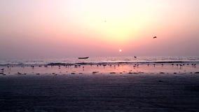Gambia, hav sanset stock video
