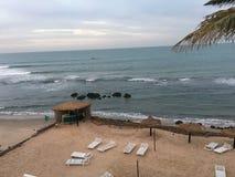Gambia. Hotell beach gambia nice noo stock photography