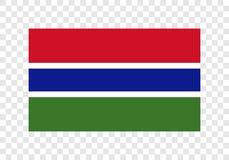 Gambia - nationsflagga royaltyfri illustrationer