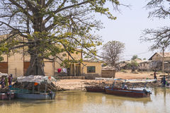Gambiaanse stad Stock Foto's