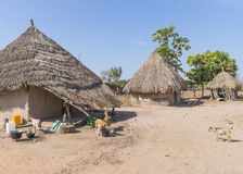 Gambian village Royalty Free Stock Image