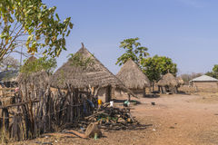 Gambian village Royalty Free Stock Photography