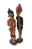 Gambian wood carving. Statues made from wood by Gambian crafts men Stock Images