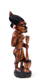 Gambian wood carving. Statues made from wood by Gambian crafts men Royalty Free Stock Photography