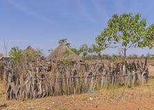 Gambijska wioska Zdjęcia Stock
