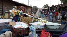 Gambisk marknad Fotografering för Bildbyråer