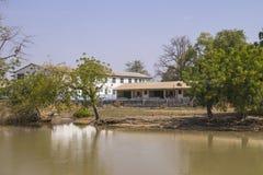 Gambisk stad Arkivfoto