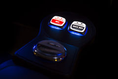 Gamble bet Gamble max bet. Buttons on a gambling machine in a casino Royalty Free Stock Photo