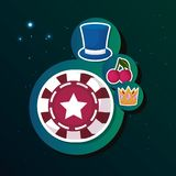 Gamble casino concept royalty free illustration