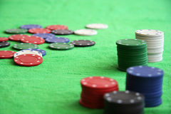 Gamble chips Royalty Free Stock Images