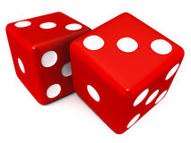 Gamble dice. Game or gamble dice on white background Royalty Free Stock Photo