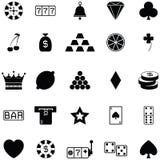 Gamble icon set royalty free illustration