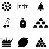 Gamble icon set. The gamble of icon set stock illustration
