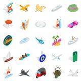 Gamble icons set, isometric style. Gamble icons set. Isometric set of 25 gamble vector icons for web isolated on white background Stock Image