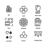 9 Gamble Line Icon vector illustration