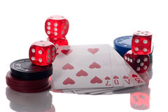 Gamble on love Stock Photography