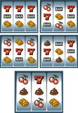 Gamble machine display Stock Photos
