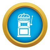 Gamble machine icon blue vector isolated. On white background for any design royalty free illustration