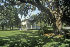 Gamble Mansion, home of Major Robert Gamble, is the only surviving plantation house in south Florida, Ellenton, Florida Stock Image