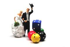 The gamble of marriage Stock Photos