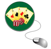 Gamble online. (Vector is available royalty free illustration