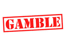 GAMBLE. Red Rubber Stamp over a white background stock illustration
