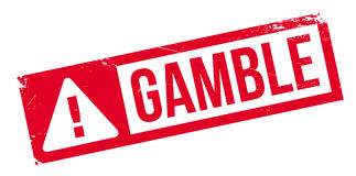 Gamble rubber stamp. Grunge design with dust scratches. Effects can be easily removed for a clean, crisp look. Color is easily changed stock illustration