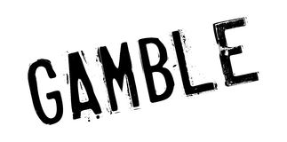 Gamble rubber stamp. Grunge design with dust scratches. Effects can be easily removed for a clean, crisp look. Color is easily changed royalty free illustration