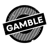 Gamble rubber stamp. Grunge design with dust scratches. Effects can be easily removed for a clean, crisp look. Color is easily changed vector illustration