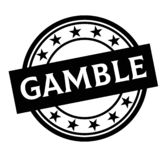 GAMBLE stamp on white. Background. Labels and stamps series vector illustration