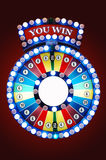 Gamble wheel. Colorful gamble wheel with logo of YOU WIN Stock Photos