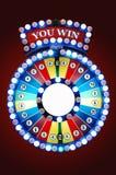 Gamble wheel. Colorful gamble wheel with logo of YOU WIN stock photos
