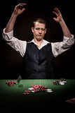 Gambler is angry Royalty Free Stock Photo