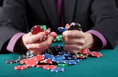 Gambler in game Stock Photo