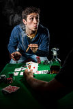 Gambler indoors Stock Images