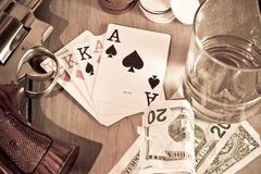 Gambler tools Royalty Free Stock Photo